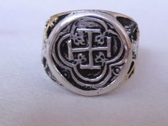 Atocha Coin 18K Solid Gold Silver Ring by NauticalFeeling on Etsy, $179.00