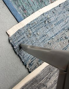 Denim Re:loom rugs... I have one of these in my home and I absolutely love it. So trendy; yet, each is unique. Plus, denim does go with everything right?