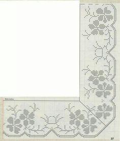 Heklanje Za Tebe I Mene 3036 – Heklanje Crochet Edging Patterns, Filet Crochet Charts, Crochet Borders, Knitting Patterns, Crochet Tote, Crochet Doilies, Cross Stitch Borders, Cross Stitch Patterns, Cross Stitch Embroidery