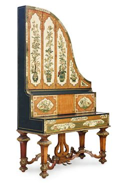 A RARE PAINTED ENGLISH GIRAFFE GRAND PIANO, BY GEORGE ROGERS & SONS, LONDON