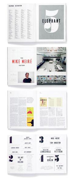 Studio 8 Design – Elephant Magazine / big numbers
