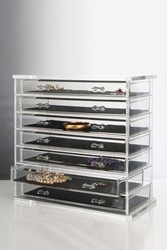 Deluxe CLEAR 7-Drawer Jewelry Chest by US Acrylic on @HauteLook. PERFECT for aiding those w\ #ADHD with organization.