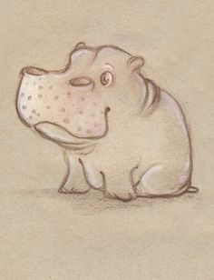 Herbert the Hippo by ~MintScribble on deviantART