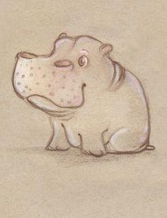 Herbert the Hippo by ~MintScribble on deviantART