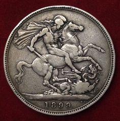 1899 British Silver Crown Queen Victoria   eBay
