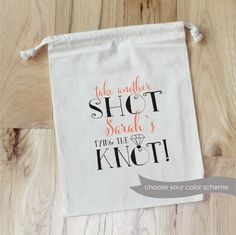 TAKE ANOTHER SHOT - Personalized Favor Bags  {details, details... details}  ►HOW TO PURCHASE / INFORMATION NEEDED:  1) CHOOSE A SIZE 2)