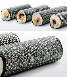 Lasercut Nori for Designer Sushi: this isn't supposed to be funny, but I think it's ridiculous!