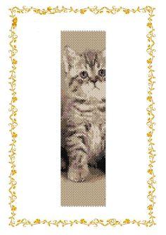 New Beading pattern Bracelet Kitten. Even count от DiushesPatterns