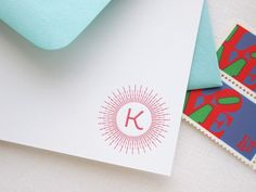 Oh So Beautiful Paper: Amy + Brandon's Modern Glam Sunburst Wedding Invitations