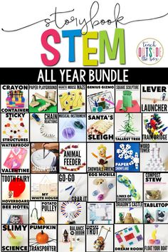 Storybook STEM provides weekly all-in-one units to cover essential skills in comprehension, vocabulary, grammar, math, science,