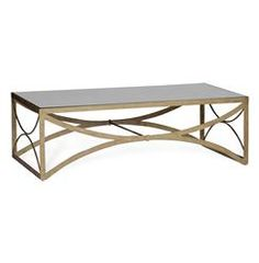 evangeline hollywood regency antique mirror scalloped coffee table