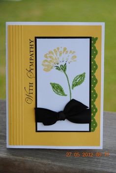 Handcrafted With Sympathy Card by amrichel on Etsy, $3.50