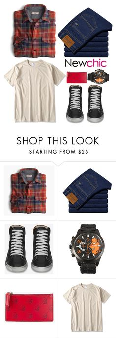 """Newchic"" by sibanesly on Polyvore featuring J.Crew, Yves Saint Laurent, Gucci, men's fashion and menswear"
