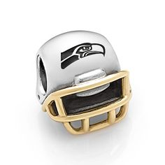 PANDORA Charm Seattle Seahawks Sterling Silver/14K Gold | Seattle ...