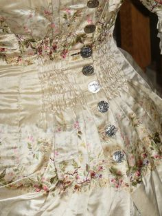 Corsage De Robe à Tournure En Soie. Style XVIIIe époque XIXe 1880 , Faux Cul, Le Bûcher des Vanités, Proantic