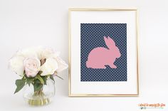 This Free Printable Bunny Silhouette is available in two fun designs. They're perfect for your spring and Easter decor!