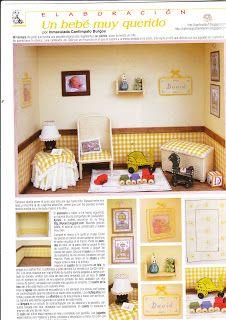Casa de muñecas en miniatura 1:12th escala país Primavera Limón Wallpaper