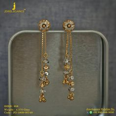 Gold Jewelry Gold 916 Premium Design Get in touch with us on 919904443030 - Gold Chain Design, Gold Ring Designs, Gold Bangles Design, Gold Jewellery Design, Designer Jewellery, Jewelry Design Earrings, Gold Earrings Designs, Ear Jewelry, Necklace Designs