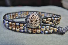 Mens/Unisex SMOKY BLUE & COPPER Simple by BraceletsofBlueRidge, $44.00