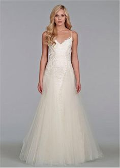 SEXY LACE TULLE SATIN SPAGHETTI STRAPS NECKLINE NATURAL WAISTLINE A-LINE WEDDING DRESS SEXY FORMAL PROM BRIDAL GOWN CUSTOM