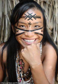 Beautiful smile. Amazon Dessana tribe, Brazil