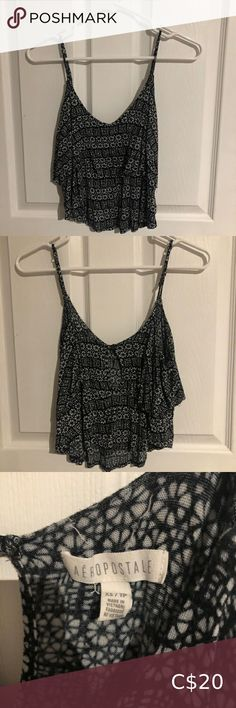 Flow-y tank top • small Aeropostale tank top • layered and flows • flattering fit • adjustable straps Aeropostale Tops Tank Tops Racerback Tank Top, Crop Tank, Branded Shirts, Navy Lace, Printed Tank Tops, Lace Tank, Striped Tank, Blue Blouse