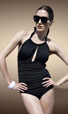 17008a4fe62fe Morpheus Boutique - Black K Hole Sexy One piece Halter Bikini Bandeau  Swimwear Trendy Swimwear,