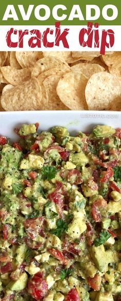 Avocado Crack Dip This easy party appetizer is the BEST make ahead dip you will ever make! Serve it up with chips for a simple finger food everyone will love. It's made with avocados, tomatoes, feta and parsley. It's like guacamole but way better! Snacks Für Party, Appetizers For Party, Easy Summer Appetizers, Finger Food Appetizers, Food For Parties, Mexican Food Appetizers, Finger Food Recipes, Easy Appies, Vegetable Appetizers