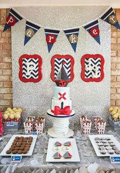 Boy Birthday Party Ideas - Nautical Theme www.spaceshipsandlaserbeams.com