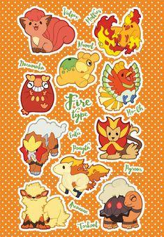 Fire Type Pokemon by miaow on DeviantArt Fire Pokemon, Pokemon W, Pokemon Memes, Pokemon Fan Art, Kawaii Chibi, Cute Chibi, Kawaii Anime, Flying Type Pokemon, Grass Type Pokemon