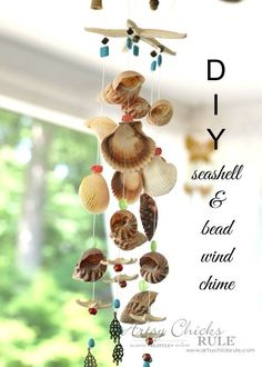 DIY Seashell Wind Chime - Seashells - #windchime artsychicksrule