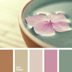 Color Palette #1386 - Soft gamma of muted shades: brown-beige, gray-brown, gray-lilac, puce, gray-green.