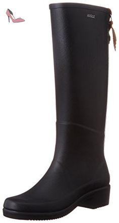 Bottes de Pluie Aigle Manège Femme Noir-Taille 37 dh7pUxEg