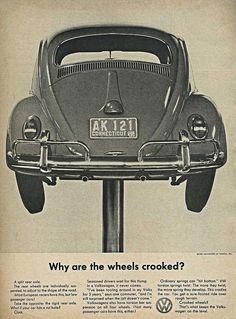 Vw Beetle Advert 1962 - Why Are The Wheels Crooked? Digital Art  - Vw Beetle…