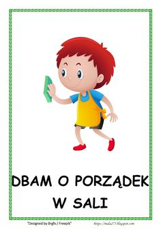 Zobacz, jakie 18 pomysłów jest teraz na czasie na . Learn Polish, School Projects, Smurfs, Hand Lettering, Diy And Crafts, Kindergarten, Preschool, Clip Art, Classroom