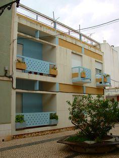 Architect Manuel Gomes da Costa, - Vila Real de Santo Antonio Algarve, San Antonio, Costa, Portugal, Portuguese, Modern Architecture, Garage Doors, Outdoor Decor, Home Decor