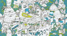 Salomon Summer 2009   illustration by sebastien CUYPERS, via Behance