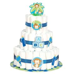 Boy #monkey baby #shower #diaper cake kit 25pc ,  View more on the LINK: 	http://www.zeppy.io/product/gb/2/252709394351/