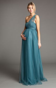 Chiffon Kate Hudson One Shoulder Yellow Maternity Evening Dress ...