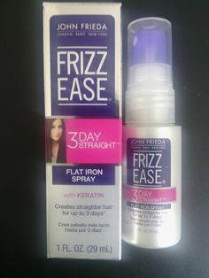 New product: Frizz Ease 3-Day  Straight Flat Iron Spay from my #JadoreVoxBox from #Influenster ( I received this product complimentary for testing purposes from influester.)