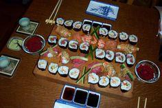 Zelfgemaakte sushi. Jummie!
