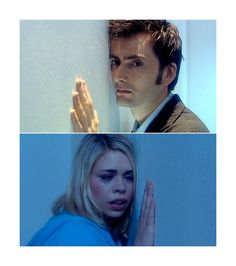 When they put their ears against the wall, it's a reminiscent of the scene in Tooth and Claw where The Doctor does the same thing with the wolf- a reference to Rose being 'Bad Wolf.' OMG!
