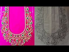 About Rose hand designer's This channel brings to you best tutorial for hand Embroidery and Aari Work Embroidery Basic stitch, Advance level stitch, blouse m. Hand Work Blouse Design, Simple Blouse Designs, Bridal Blouse Designs, Embroidery Neck Designs, Hand Work Embroidery, Aari Embroidery, Chudithar Neck Designs, Hand Designs, Designer Blouse Patterns