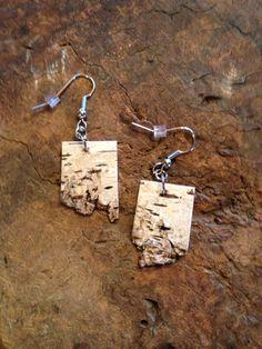 Natural Birch bark earrings by BirchBarkBeauty on Etsy