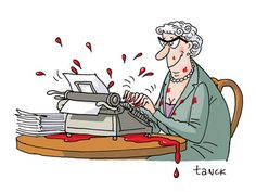 agatha christie by birgit tanck illustration Agatha Christie, Miss Marple, Hercule Poirot, Book Writer, Book Authors, Hermann Hesse, Detective, Crime, Book Art