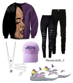 """Untitled #79"" by your-style-1 on Polyvore featuring AMIRI, NIKE, WithChic and Tiffany & Co."