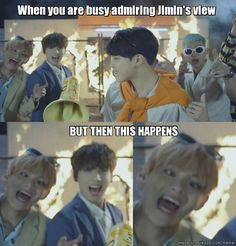 I swear I didn't noticed this even if I watched the #fire mv over and over again but this is brilliant! xD Just TaeTae in his natural element