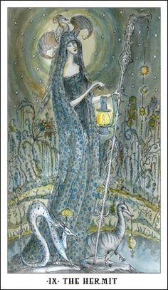 IX The Hermit, Paulina Cassidy, Joie de Vivre Tarot