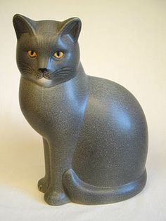 Ceramic Sculpture, Ceramic Animals, Sculptures, Carving, Clay Art, Ceramics, Cat Art, Art N Craft, Cat Statue