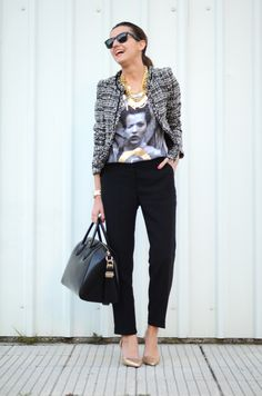 Gold is the perfect finishing touch. (Also adore the Chanel inspired tweed.)